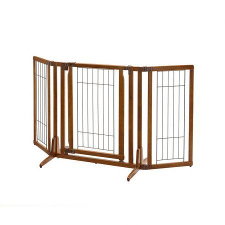Richell Richell Premium Plus Freestanding Gate with Door - Autumn Matte