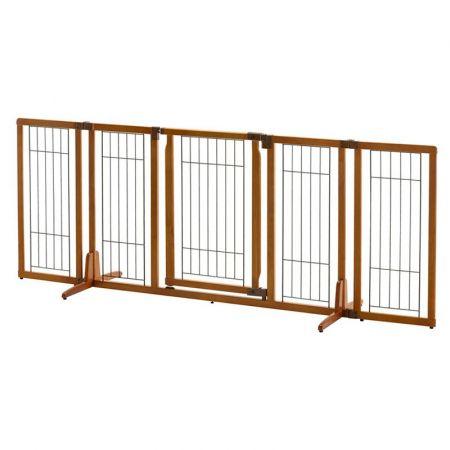Richell Richell Wide Premium Plus Freestanding Gate with Door - Autumn Matte