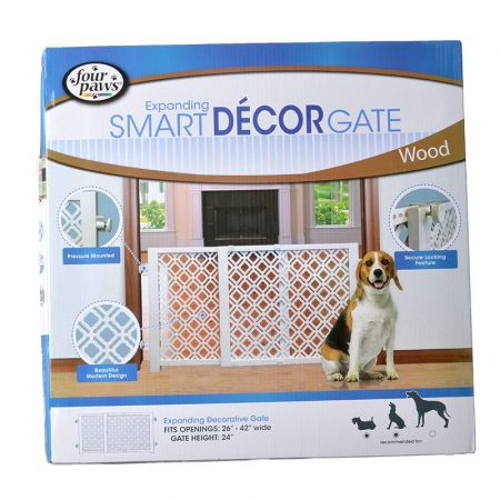Four Paws Four Paws Expanding Smart Decor Gate - Wood