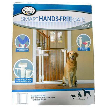 Four Paws Four Paws Smart Hands Free Gate - Metal