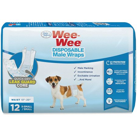 Four Paws Four Paws Wee Wee Disposable Male Dog Wraps