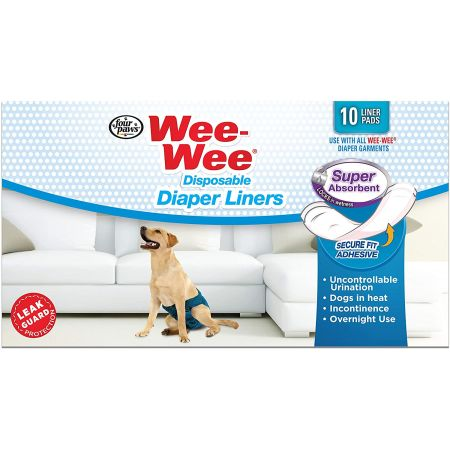Four Paws Four Paws Wee Wee Super Absorbent Disposable Diaper Liners
