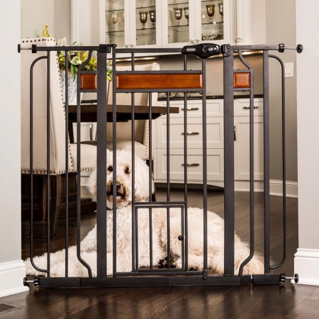 Carlson Pet Gates Carlson Design Paw Extra Tall Expandable Pet Gate with Door