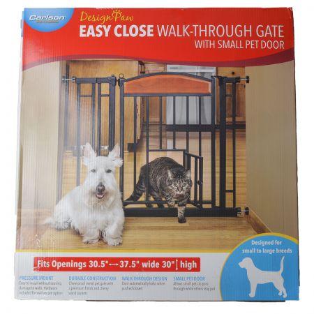 Carlson Pet Gates Carlson Design Studio Metal Walk-Thru Pet Gate with Door