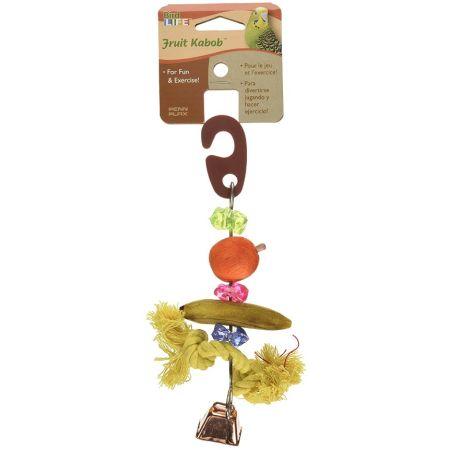 Penn Plax Penn Plax Bird Life Fruit-Kabob Wood Parakeet Toy