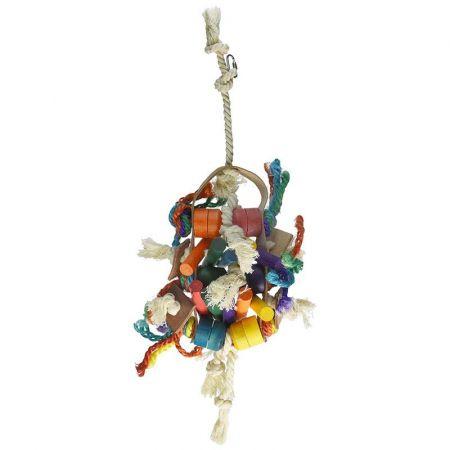 Penn Plax Penn Plax Bird Life Leather-Kabob Parrot Toy