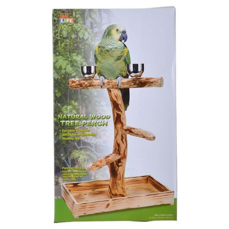Penn Plax Bird Life Natural Wood Tree Perch alternate view 2