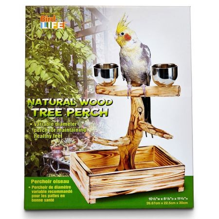 Penn Plax Bird Life Natural Wood Tree Perch