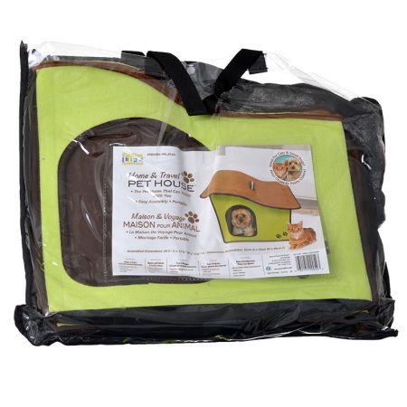 Penn Plax Penn Plax Zipper Dog House with Sloped Roof - Green