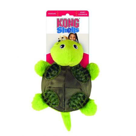 Kong Kong Shells Textured Dog Toy - Turtle