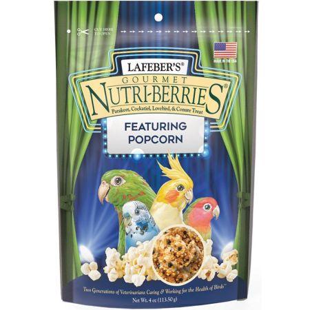 Lafeber Gourmet Nutri-Berries with Popcorn for Parakeet, Cockatiel & Conures