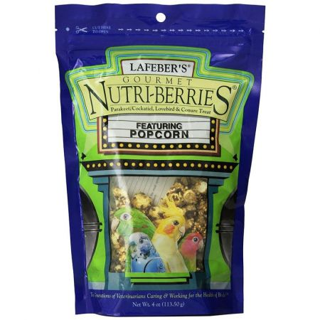 Lafeber Lafeber Gourmet Nutri-Berries with Popcorn for Parakeet, Cockatiel & Conures