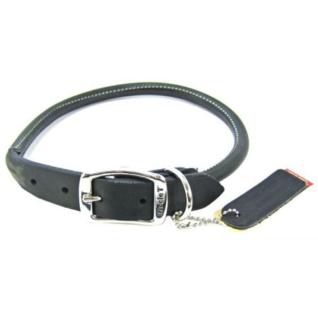 Circle T Pet Leather Round Collar - Black alternate view 7