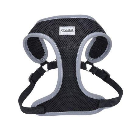 Coastal Pet Coastal Pet Comfort Soft Reflective Wrap Adjustable Dog Harness - Black