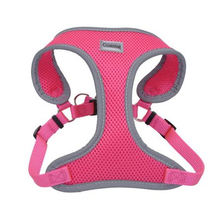 Coastal Pet Coastal Pet Comfort Soft Reflective Wrap Adjustable Dog Harness - Neon Pink