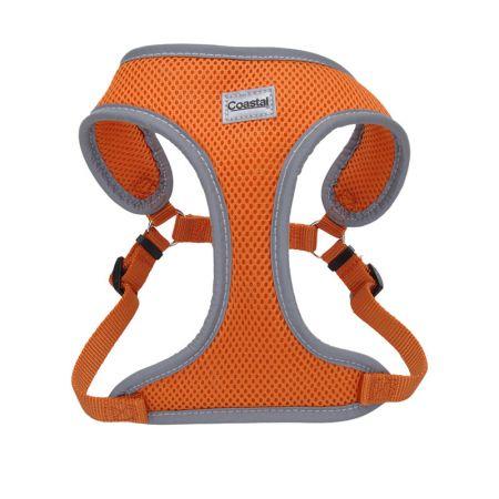 Coastal Pet Coastal Pet Comfort Soft Reflective Wrap Adjustable Dog Harness - Sunset Orange