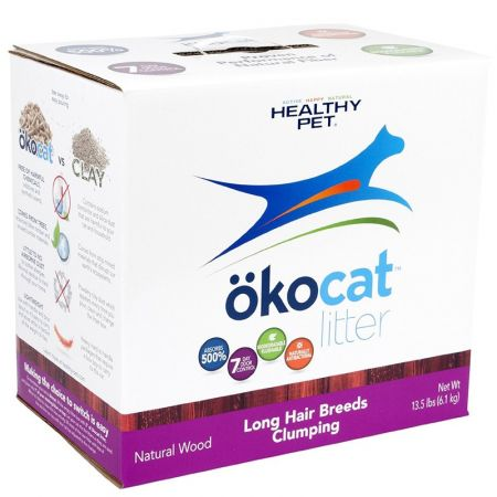 CareFresh Healthy Pet Okocat Natural Wood Clumping Litter for Long Hair Breeds