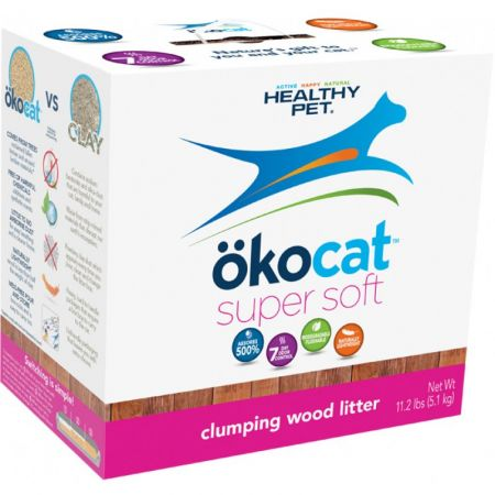 CareFresh Healthy Pet Okocat Soft Step Clumping Wood Litter
