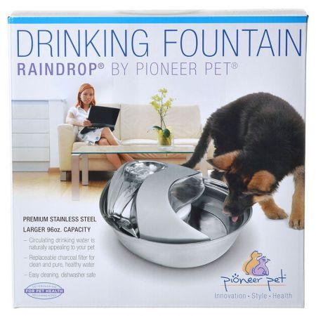 Pioneer Pet Pioneer Raindrop Stainless Steel Drinking Fountain