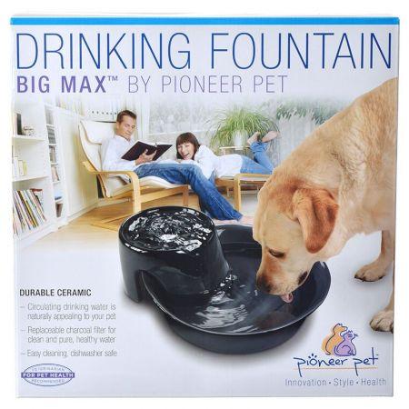 Pioneer Big Max Ceramic Drinking Fountain - Black