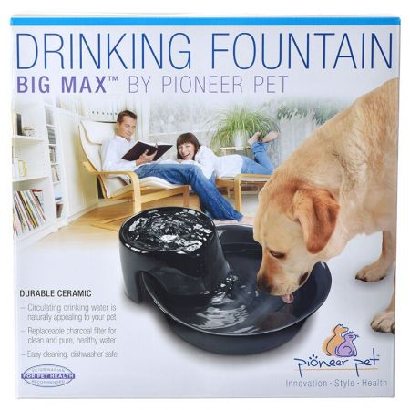 Pioneer Pet Pioneer Big Max Ceramic Drinking Fountain - Black