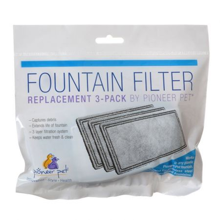Pioneer Pet Pioneer Replacement Filters for Plastic Raindrop and Fung Shui Fountains