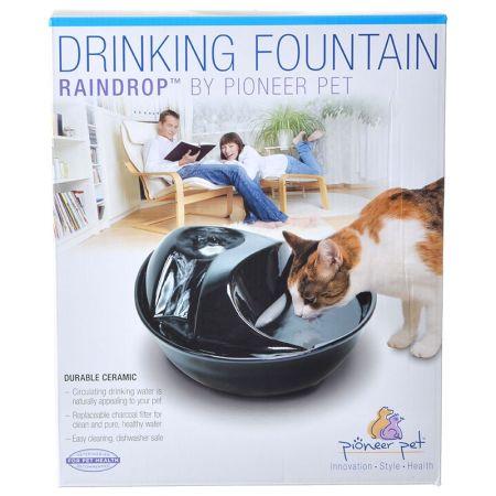 Pioneer Pet Pioneer Raindrop Ceramic Drinking Fountain - Black