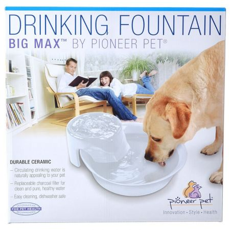 Pioneer Pet Pioneer Big Max Ceramic Drinking Fountain - White