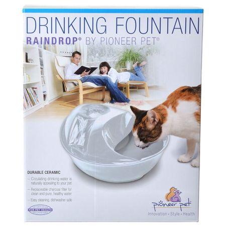 Pioneer Pet Pioneer Raindrop Ceramic Drinking Fountain - White