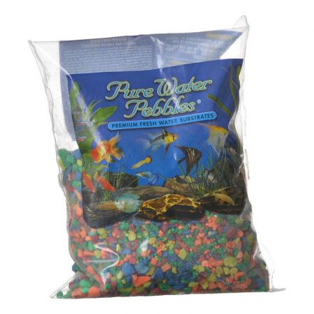 Pure Water Pebbles Pure Water Pebbles Aquarium Gravel - Neon Rainbow
