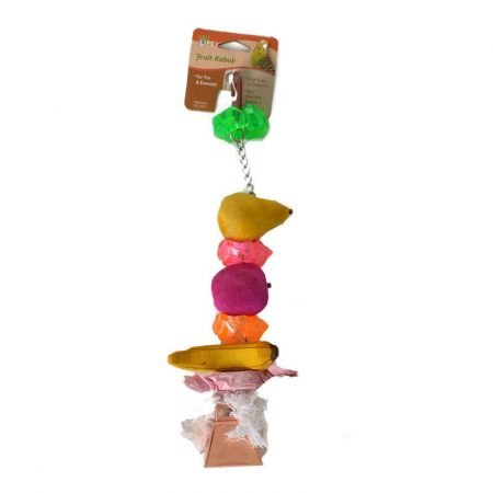 Penn Plax Penn Plax Bird Life Fruit-Kabob Wood Treat Toy for Parrots