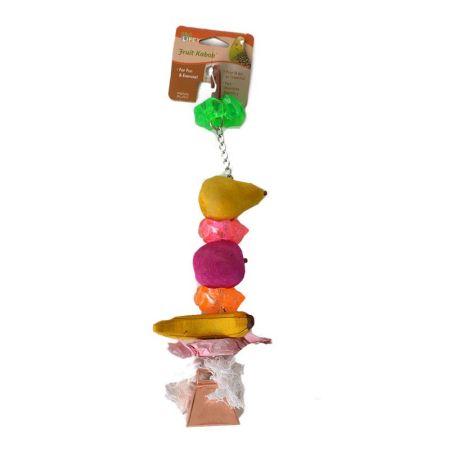 Penn Plax Penn Plax Bird Life Fruit-Kabob Wood Treat Toy for Parrots