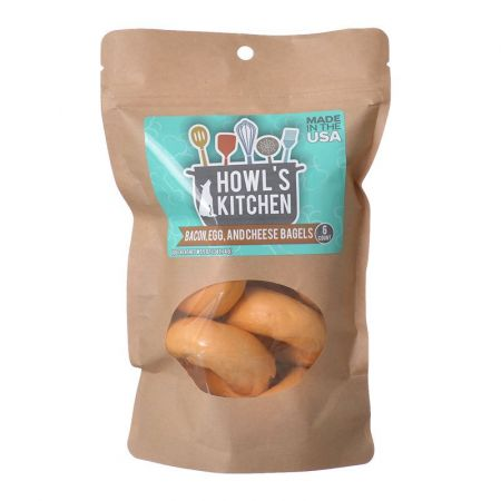 Howl's Kitchen Howl's Kitchen Bacon, Egg & Cheese Flavor Bagels for Dogs