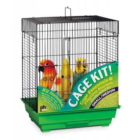 Prevue Prevue Square Top Bird Cage Kit - Green