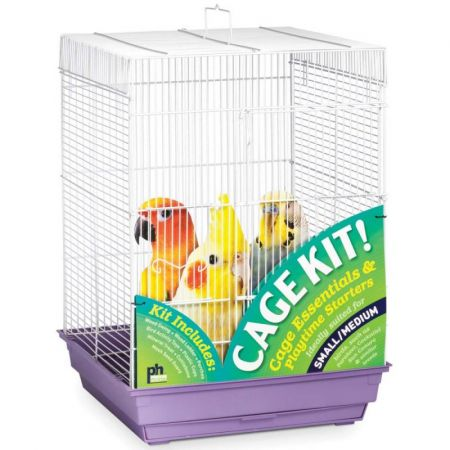 Prevue Prevue Square Top Bird Cage Kit - Purple
