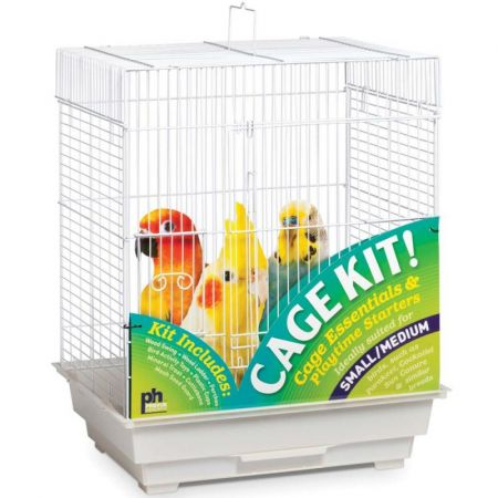 Prevue Prevue Square Top Bird Cage Kit - White