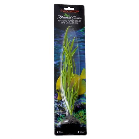 Aquatop Aquatop Silicone Aquarium Plant - Green with Yellow Tips