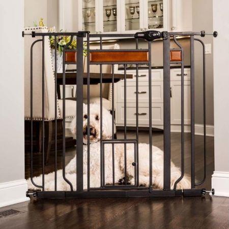 Carlson Pet Gates Carlson Design Studio Extra Wide Walk-Thru Pet Gate with Door