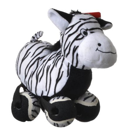 Kong Kong TenniShoes Dog Toy - Zebra