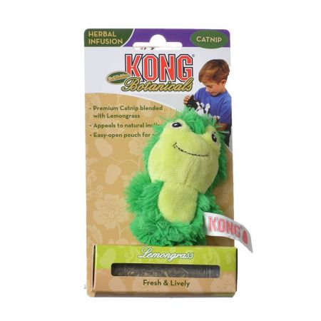 Kong Kong Botanicals Refillable Lemongrass Frog Cat Toy