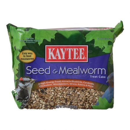 Kaytee Kaytee Seed & Mealworm Treat Cake