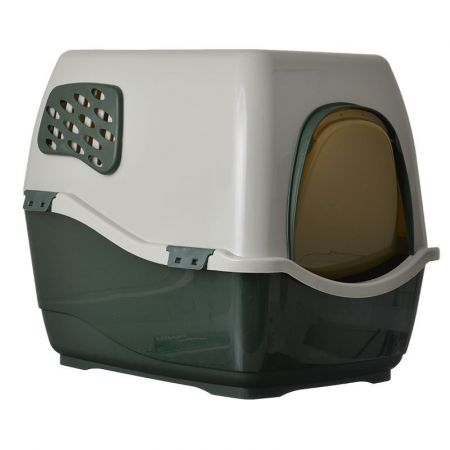 Marchioro Products Marchioro Bill F Deluxe Hooded Litter Pan - Dark Green