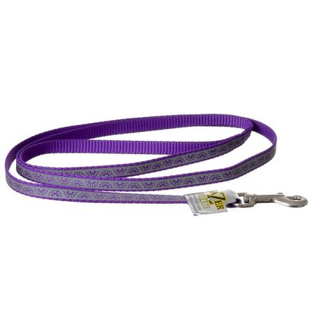 Coastal Pet Lazer Brite Reflective Open-Design Dog Leash - Purple Daisy