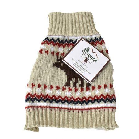 Fashion Pet Outdoor Dog Moose Sweater - Cream