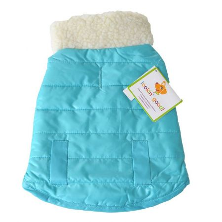 Fashion Pet Lookin Good Reversible Puffy Dog Coat - Blue