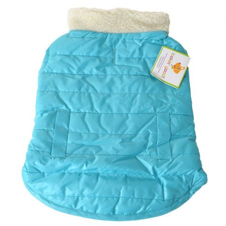 Lookin Good Reversible Puffy Dog Coat - Blue alternate view 2