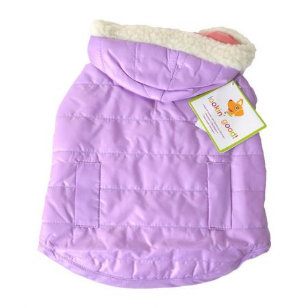 Fashion Pet Lookin Good Reversible Puffy Dog Coat - Lilac