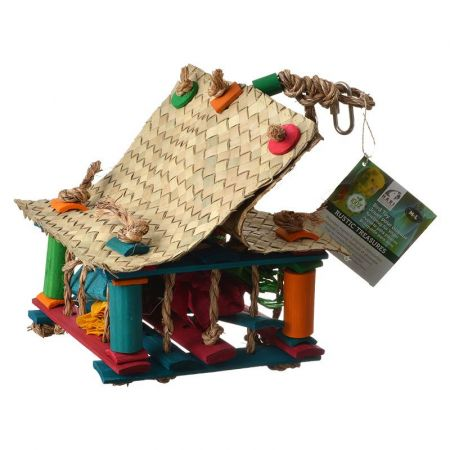 Hari Hari Rustic Treasures Foraging Rope House Bird Toy