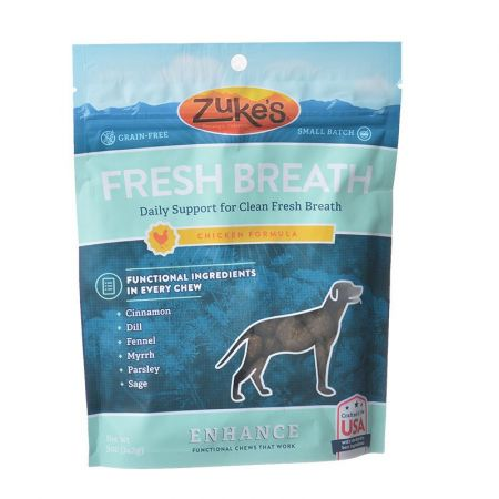 Zukes Zuke's Enhance Fresh Breath Chews - Chicken Formula