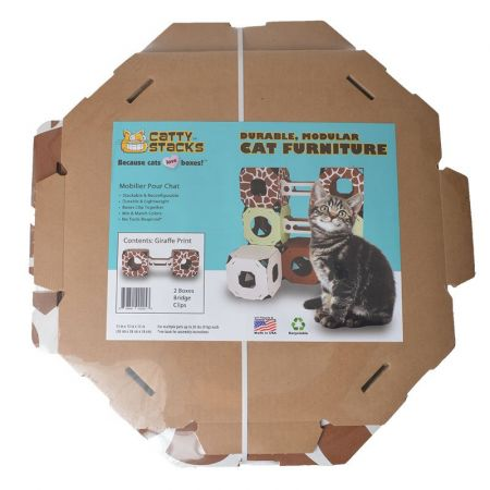 Catty Stacks Catty Stacks 2 Box & Bridge Kit - Giraffe